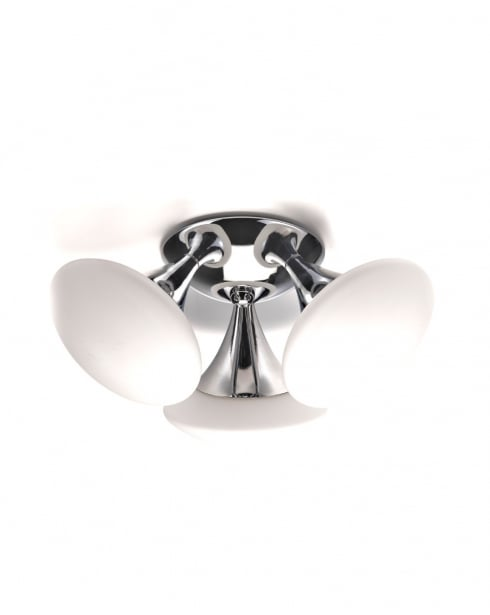 Marco Tielle Bugle 3 Light Modern Chrome Bathroom Ceiling Fitting MT3553-3CC