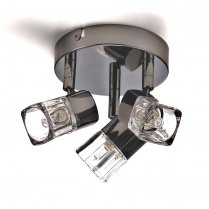 Marco Tielle Cubed Ice 3 Light Modern Chrome Spotlight Fitting MT9883BC