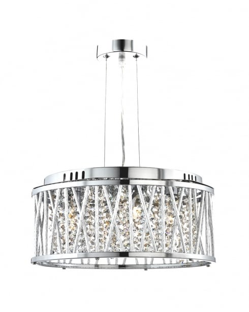 Marco Tielle Elan 4 Light Crystal Pendant Light MT8334-4CC