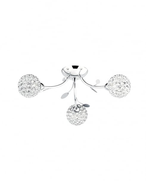 Marco Tielle Globular 3 Light Crystal Chrome Semi-Flush Fitting MT6573-3CC