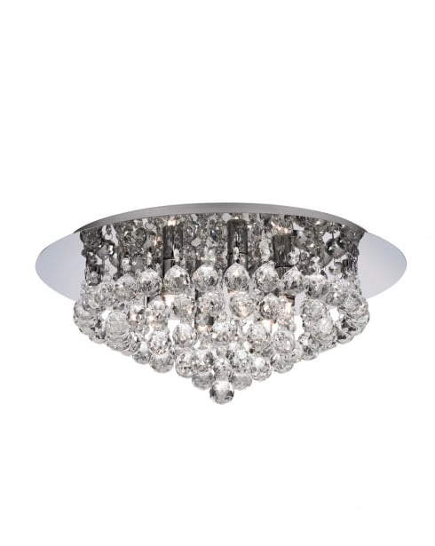 Marco Tielle Hanna 6 Light Crystal semi-flush Ceiling Fitting MT3406-6CC