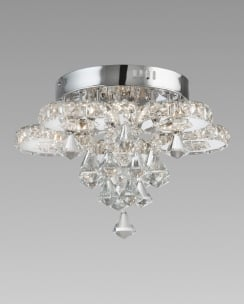 Marco Tielle Hanna LED Flush Crystal and Chrome Ceiling Fitting MT8596-6CC