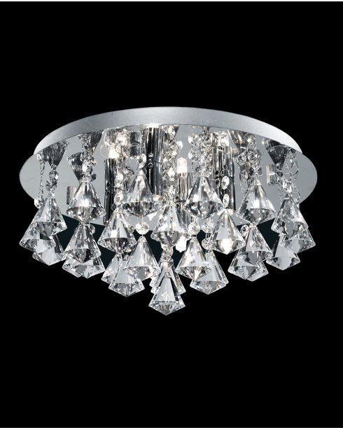 Marco Tielle Hannah 4 Light Crystal Chrome Flush Ceiling Fitting MT3304-4CC