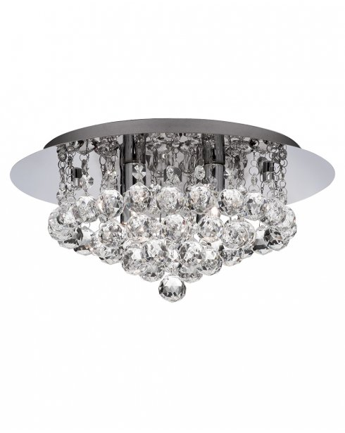 Marco Tielle Hannah 4 Light Crystal Chrome Flush Ceiling Fitting MT3404-4CC
