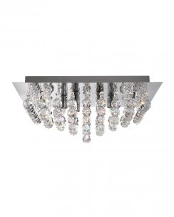 Marco Tielle Hannah 4 Light Crystal Chrome Flush Ceiling Fitting MT6404-4CC
