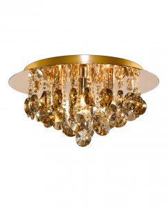 Marco Tielle Hannah 4 Light Crystal Gold Flush Ceiling Fitting MT3204-4GO