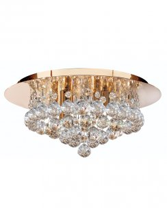 Marco Tielle Hannah 4 Light Crystal Gold Flush Ceiling Fitting MT3404-4GO