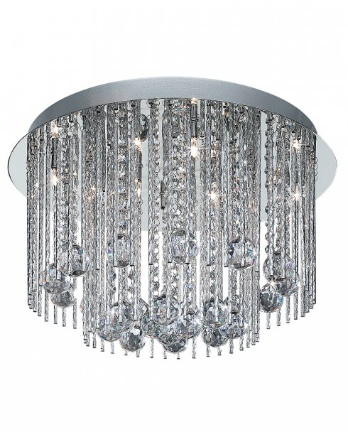 Marco Tielle Beatrice 8 Light Crystal Chrome Flush Ceiling Fitting MT8088-8CC