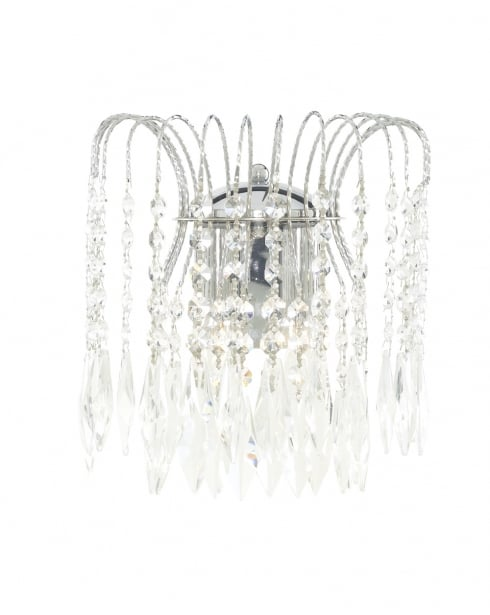 Marco Tielle Cascade 2 Light Crystal Chrome Decorative Wall Light MT4172-2