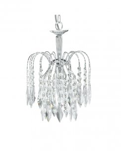 Marco Tielle Cascade Single Light Crystal Chrome Pendant Light MT4271-1