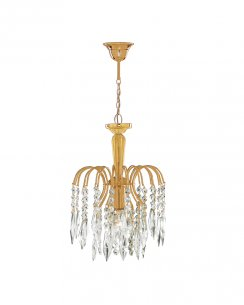 Marco Tielle Cascade Single Light Crystal Gold Pendant Light MT6271-1