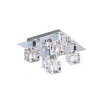 Marco Tielle Ice Cool 5 Light Crystal Chrome Semi-Flush Fitting MT4476-5