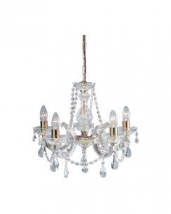 Marco Tielle Marie Therese 5 Light Clear Crystal Chandelier MT699-5