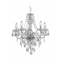 Marco Tielle Marie Therese 5 Light Clear Crystal Chandelier MT8885-5CL