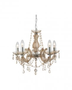 Marco Tielle Marie Therese 5 Light Mink Crystal Chandelier MT699-5MI