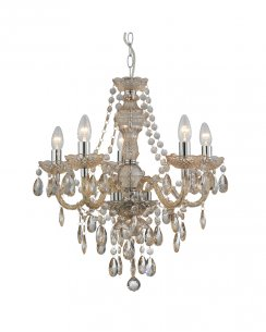 Marco Tielle Marie Therese 5 Light Mink Crystal Chandelier MT8885-5MI