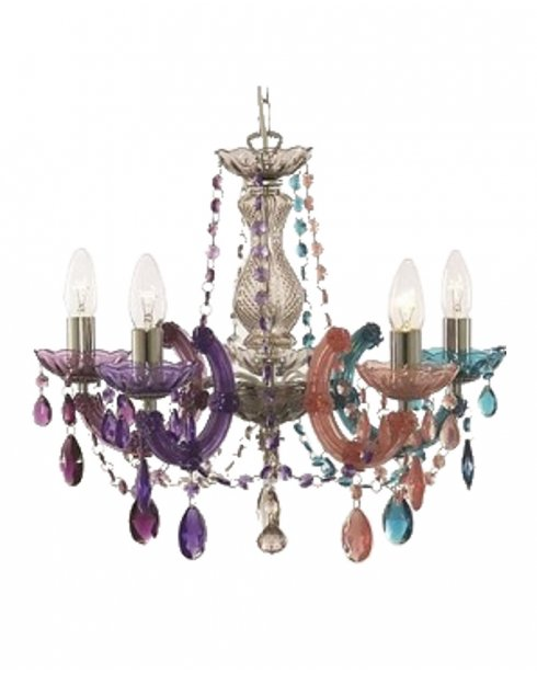 Tielle marie therese 5 light multi coloured coloured chandelier marco tielle marie therese 5 light multi coloured coloured chandelier mt699 5mu aloadofball Images
