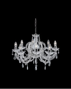 Marco Tielle Marie Therese 8 Light Clear Crystal Chandelier MT399-8