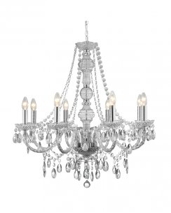 Marco Tielle Marie Therese 8 Light Clear Crystal Chandelier MT8888-8CL