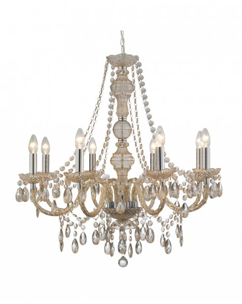 Marco Tielle Marie Therese 8 Light Mink Crystal Chandelier MT8888-8MI