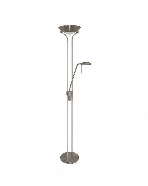 Marco Tielle Mother & Child 2 Light Modern Silver Floor Standing Uplighter MT4329SI