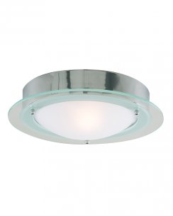 Marco Tielle MT3108CC Single Light Modern Steel Bathroom Ceiling Fitting