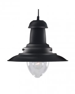 Marco Tielle Nautical Single Light Traditional Black Pendant Light MT4301BK