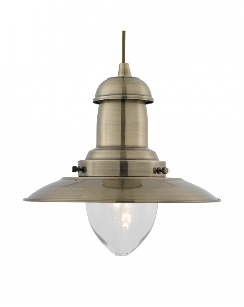 Marco Tielle Nautical Single Light Traditional Brass Pendant Light MT4301AB