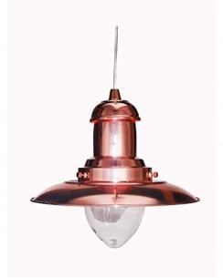 Marco Tielle Nautical Single Light Traditional Copper Pendant Light MT4301CO