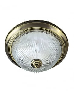 Marco Tielle New York Diner 2 Light Traditional Brass Flush Ceiling Fitting MT9370