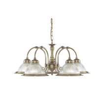 Marco Tielle New York Diner 5 Light Traditional Brass Multi-Arm Pendant MT9345-5
