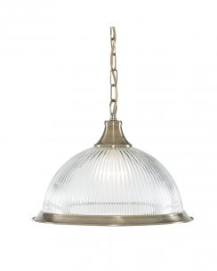 Marco Tielle New York Diner Single Light Traditional Brass Pendant Light MT9369