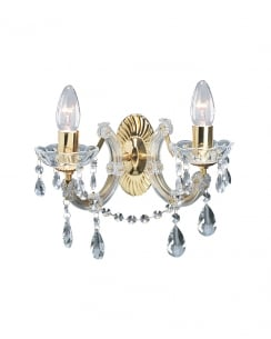 Marco Tielle Marie Therese 2 Light Crystal Decorative Wall Light MT699-2