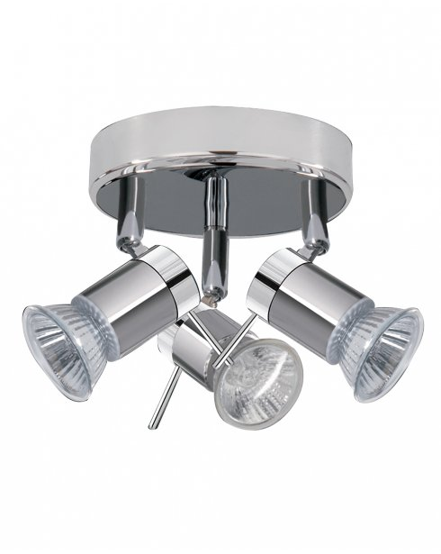 Marco Tielle MT7443CC 3 Light Modern Chrome Bathroom Ceiling Fitting