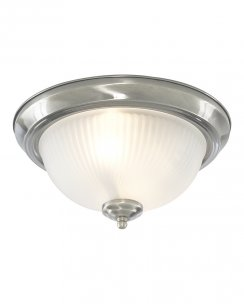 Marco Tielle New York Diner 2 Light Traditional Chrome Bathroom Ceiling Fitting MT4042