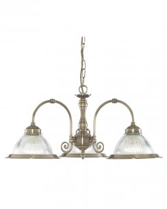 Marco Tielle New York Diner 3 Light Modern Brass Multi-Arm Pendant MT9343-3