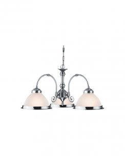 Marco Tielle New York Diner 3 Light Traditional Chrome Multi-Arm Pendant MT1043-3