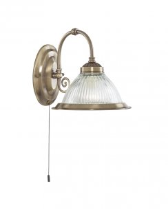 Marco Tielle New York Diner Single Light Traditional Brass Decorative Wall Light MT9341-1