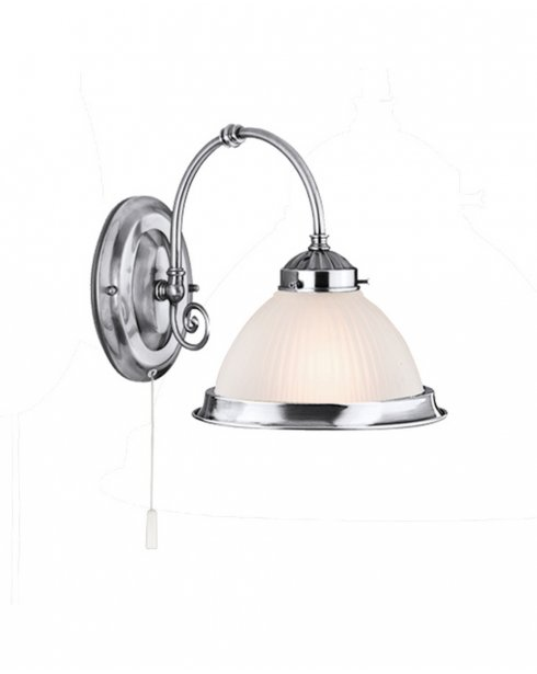 Marco Tielle New York Diner Single Light Traditional Chrome Decorative Wall Light MT1041-1