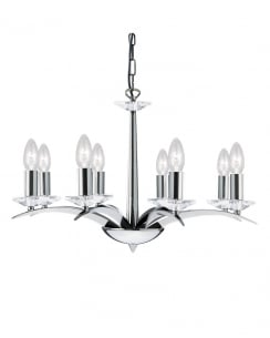 Marco Tielle Novara 8 Light Modern Semi-Flush Fitting MT8186-6AB