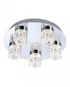 Paul Neuhaus Bilan Modern Chrome Bathroom Ceiling Fitting 8145-17