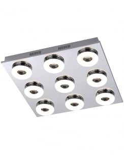 Paul Neuhaus Bagel Modern Chrome Flush Ceiling Fitting 8469-17