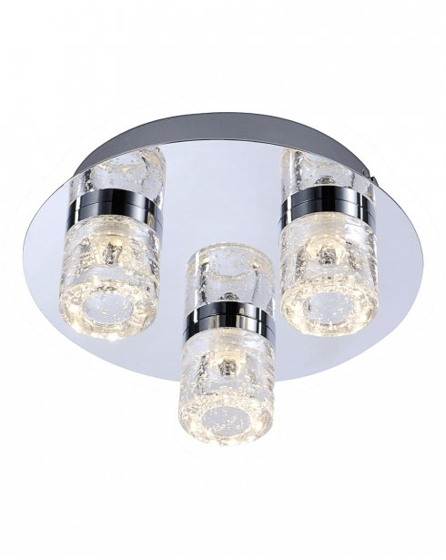 Paul Neuhaus Bilan Modern Chrome Bathroom Ceiling Fitting 8143-17