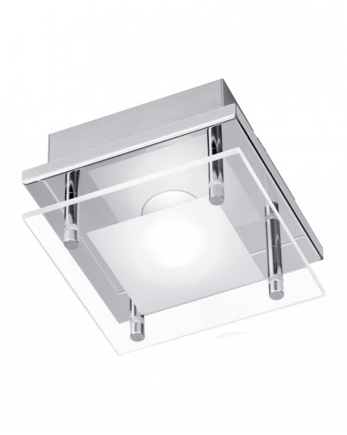 Paul Neuhaus Chiron Modern Chrome Bathroom Ceiling Fitting 6865-17