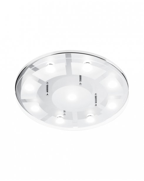 Paul Neuhaus Chiron Modern Clear Bathroom Ceiling Fitting 6990-17
