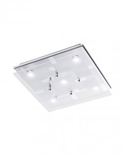 Paul Neuhaus Chiron Modern Clear Flush Ceiling Fitting 6116-17