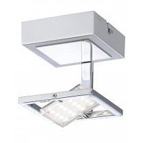 Paul Neuhaus Fantino Modern Chrome Semi-Flush Fitting 8065-17