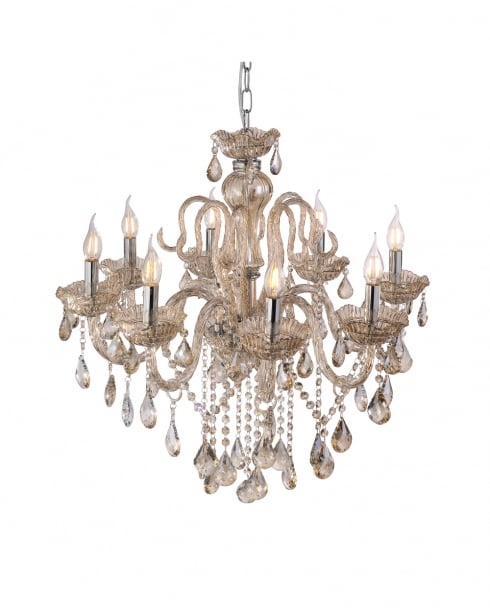 Paul Neuhaus Gracia Traditional Champagne Chandelier 3081-97