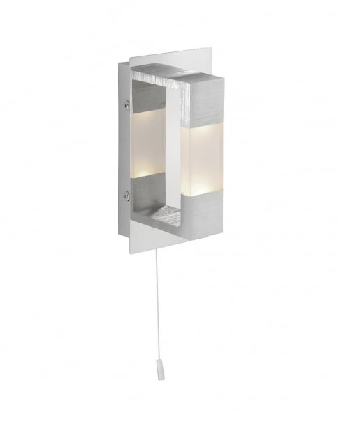 Paul Neuhaus Kemos Modern Steel Bathroom Wall Fitting 9196-96
