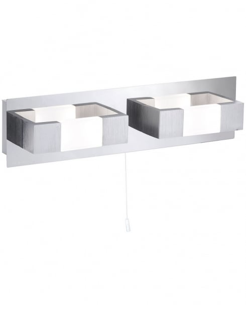 Paul Neuhaus Kemos Modern Steel Bathroom Wall Fitting 9198-96